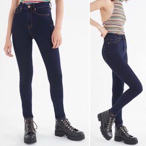 BDG Twig high rise skinny jeans dark wash